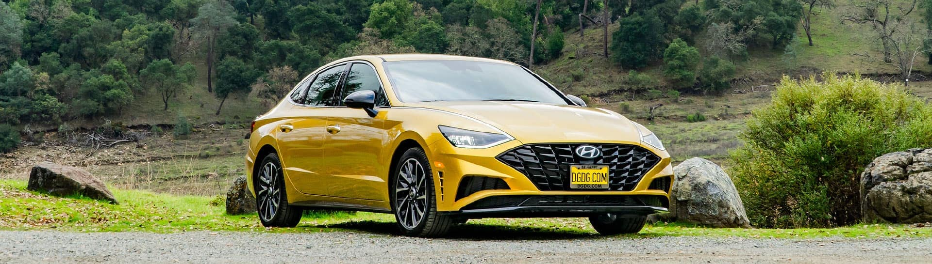 Yellow Hyundai sedan