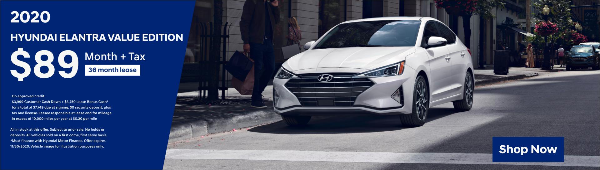 2020 Hyundai Elantra Lease