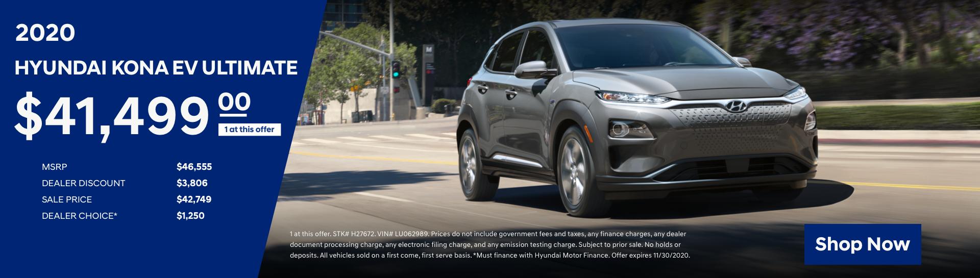 2020 Hyundai Kona EV Purchase