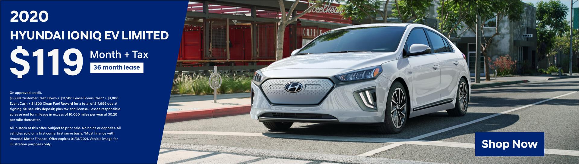 Jan 2020 Hyundai IONIQ EV Desktop