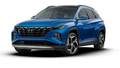2022 Hyundai TUCSON SE in blue.