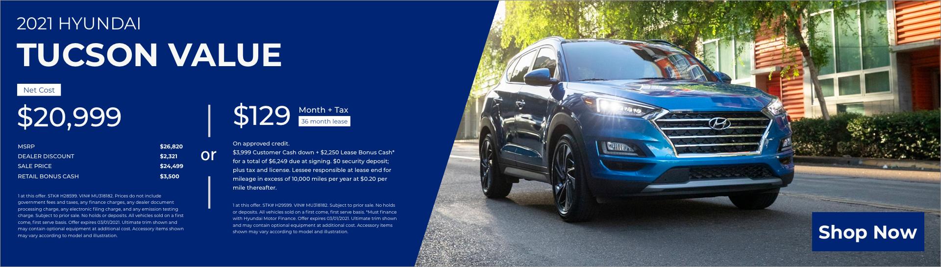 02-25 2021 Hyundai Tucson Value