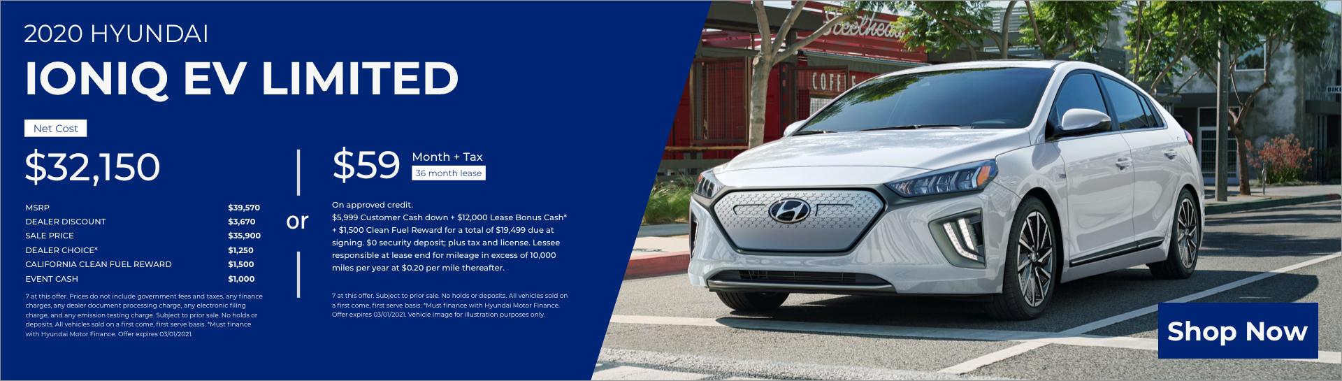 Feb 2020 Hyundai Ioniq EV