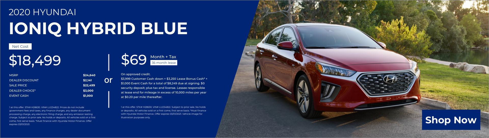 Feb 2020 Hyundai Ioniq Hybrid