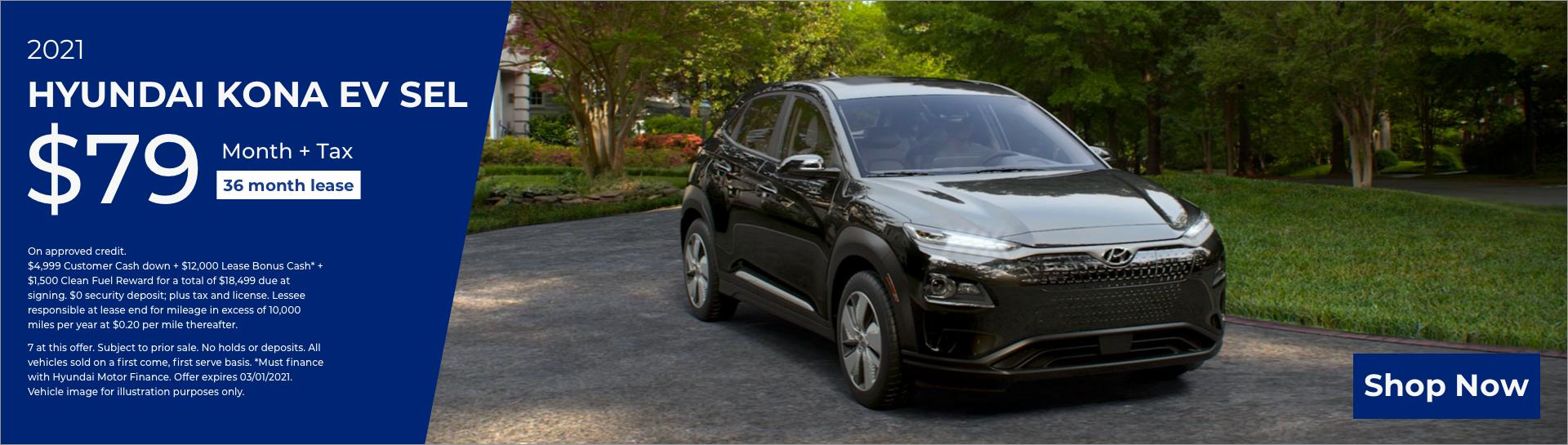 Feb 2021 Hyundai Kona