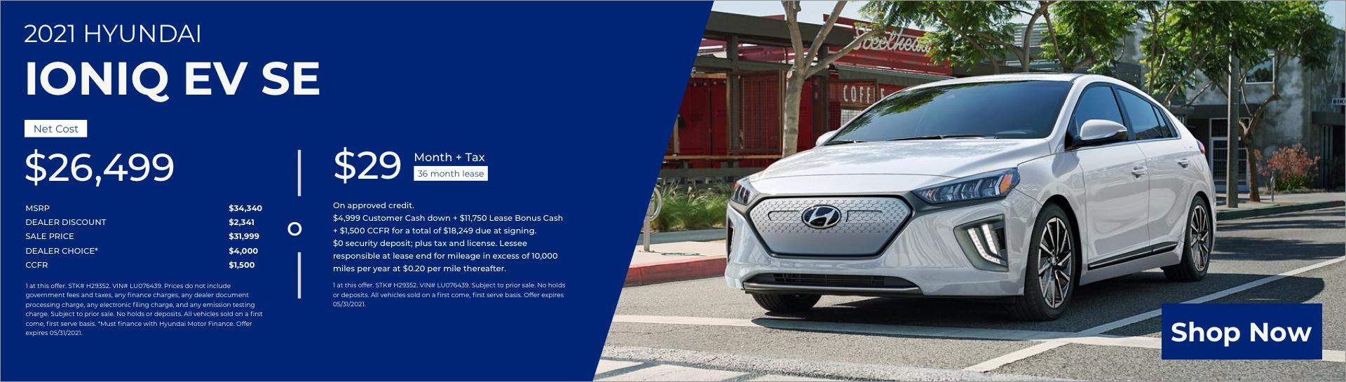2021 Hyundai Ioniq EV SE