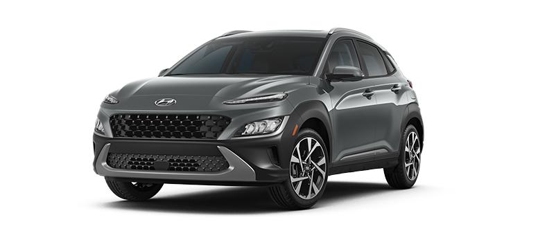2022 Hyundai Kona Limited in the color Thunder Gray