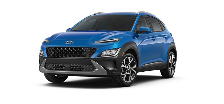 2022 Hyundai Kona SE in the color Blue Wave