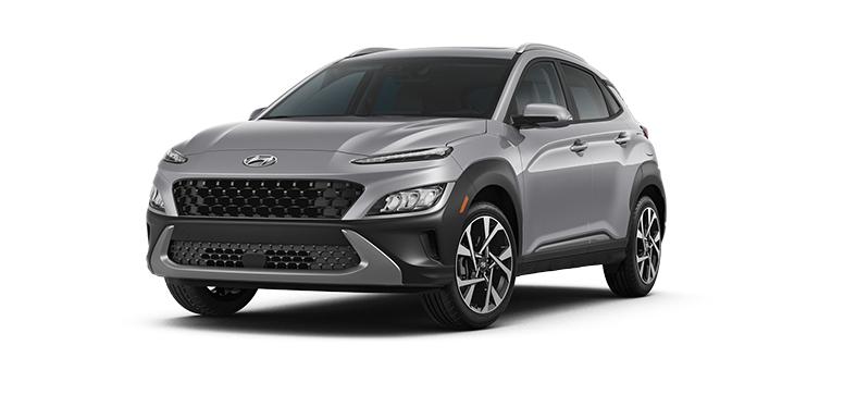 2022 Hyundai Kona SEL in the color Cyber Silver