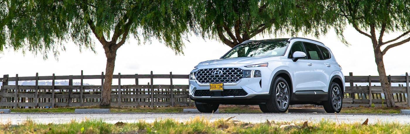 DGDG Hyundai Santa Fe white banner