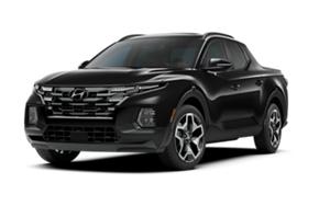 2022 Hyundai Santa Cruz SEL Premium in the color Phantom Black.