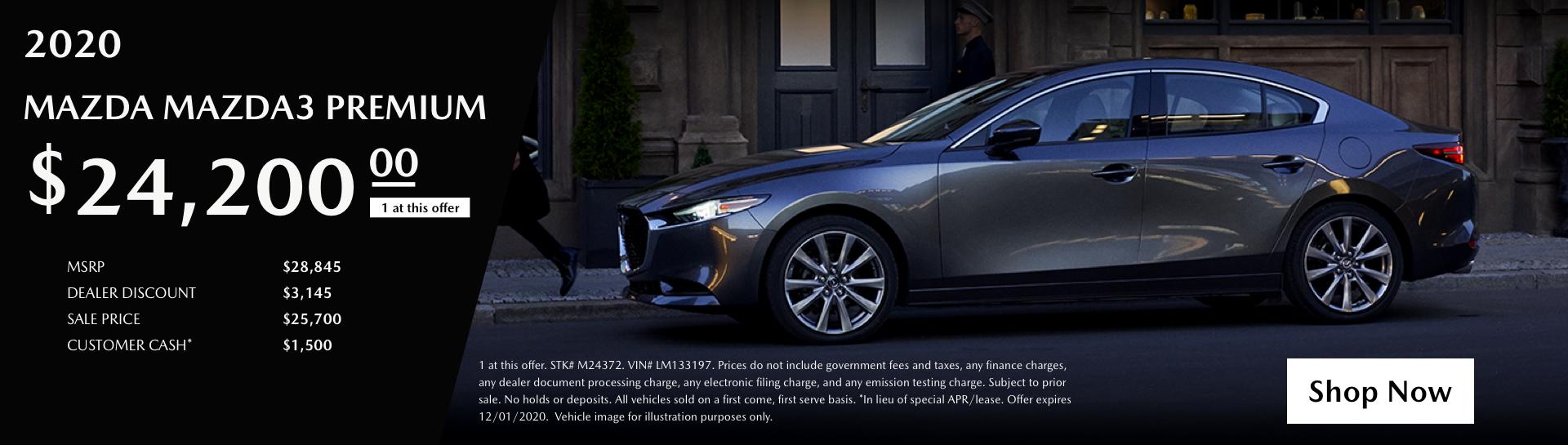2020 Mazda3 Premium3x