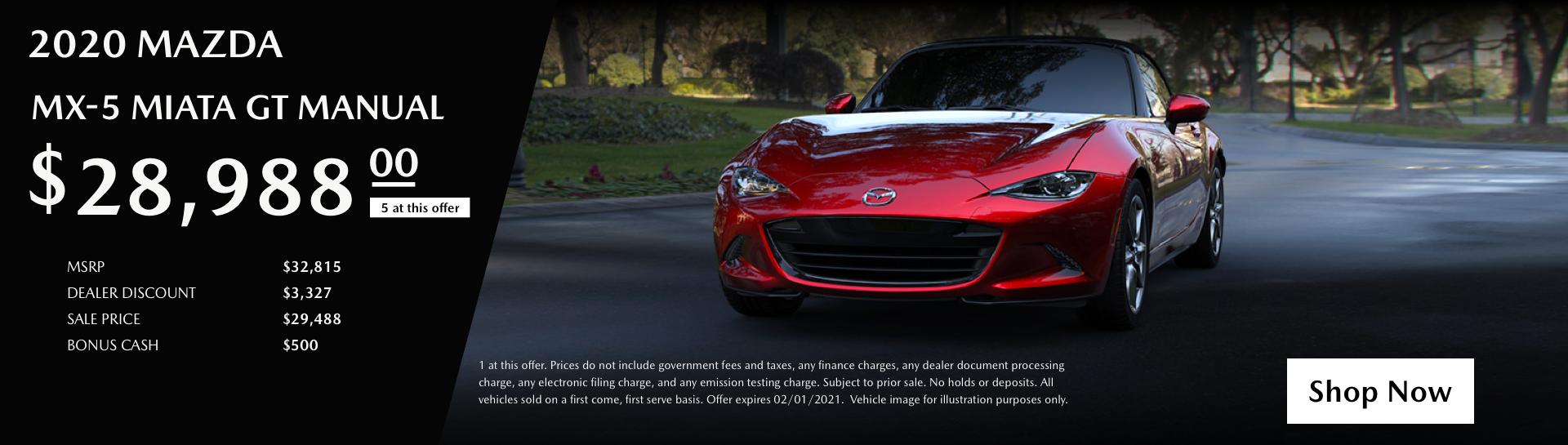 January 2020 Mazda Miata GTv2