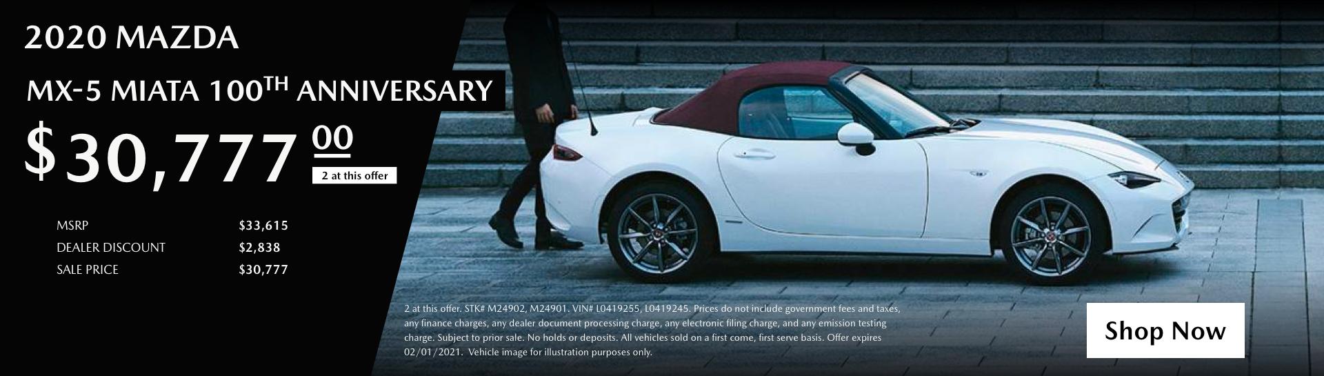 Januay 2020 Mazda Miata 100th Anniversaryv2