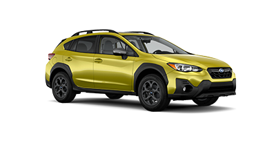 2021 Subaru Crosstrek Sport in the color Plasma Yellow Pearl