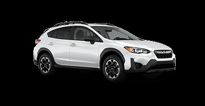 2021 Subaru Crosstrek in the color Crystal White Pearl
