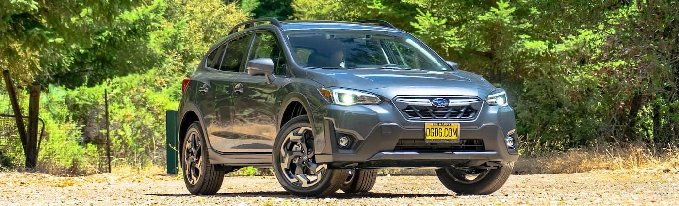 2021 Subaru Crosstrek in a field