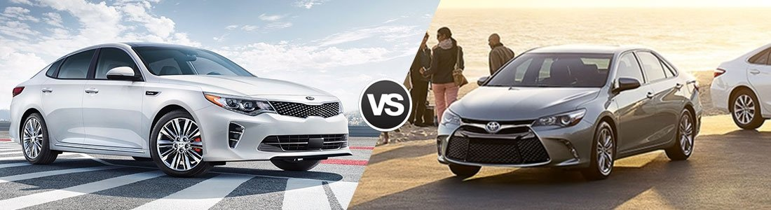 Carriage Kia Woodstock >> Compare 2017 Kia Optima vs Toyota Camry | In Woodstock ...