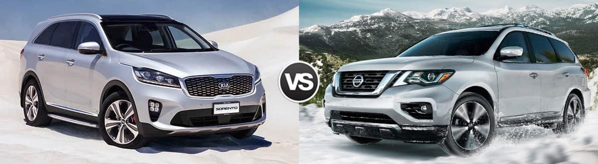 2019 Kia Sorento vs 2019 Nissan Pathfinder