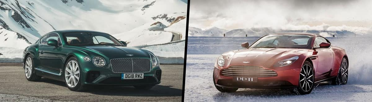 2019 Bentley Continental GT vs 2019 Aston Martin DB11