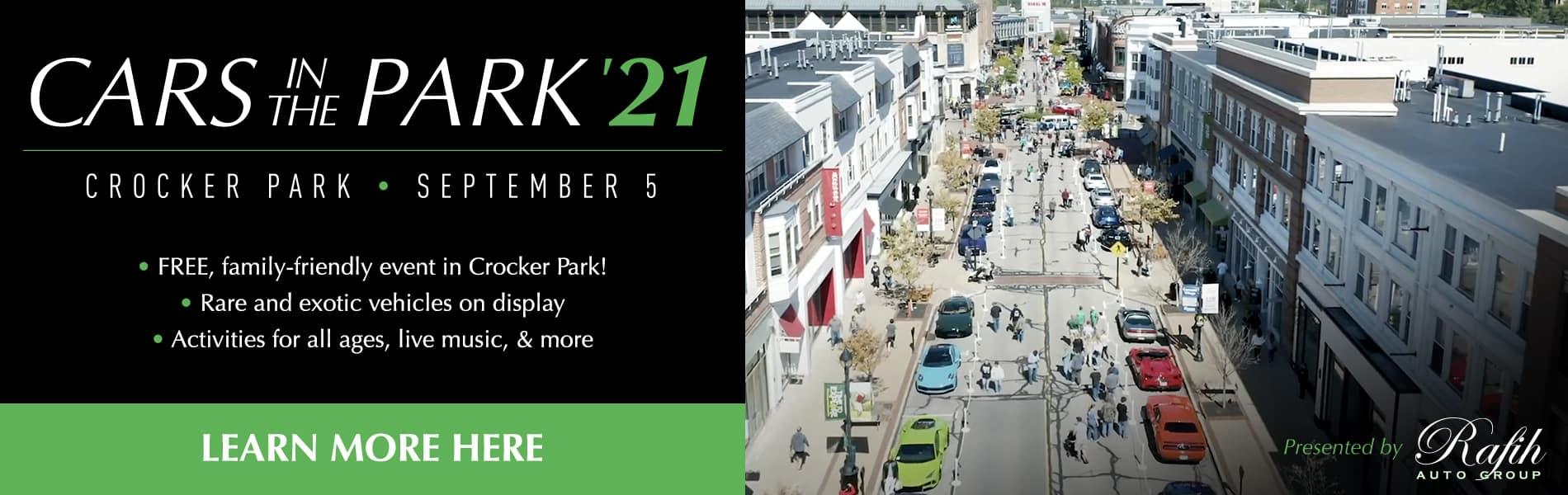 Cars in the Park '21 September 5 Crocker Park
