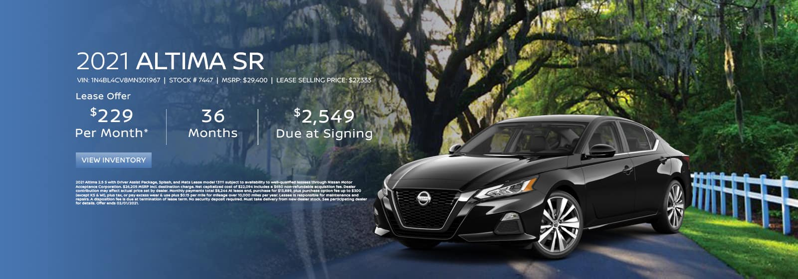 January Altima Lease Offer