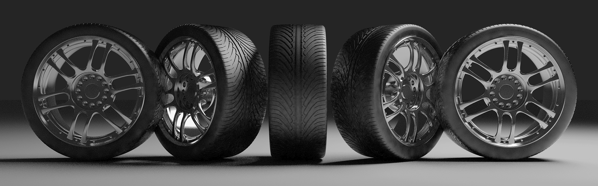 Service - Tires in a Row