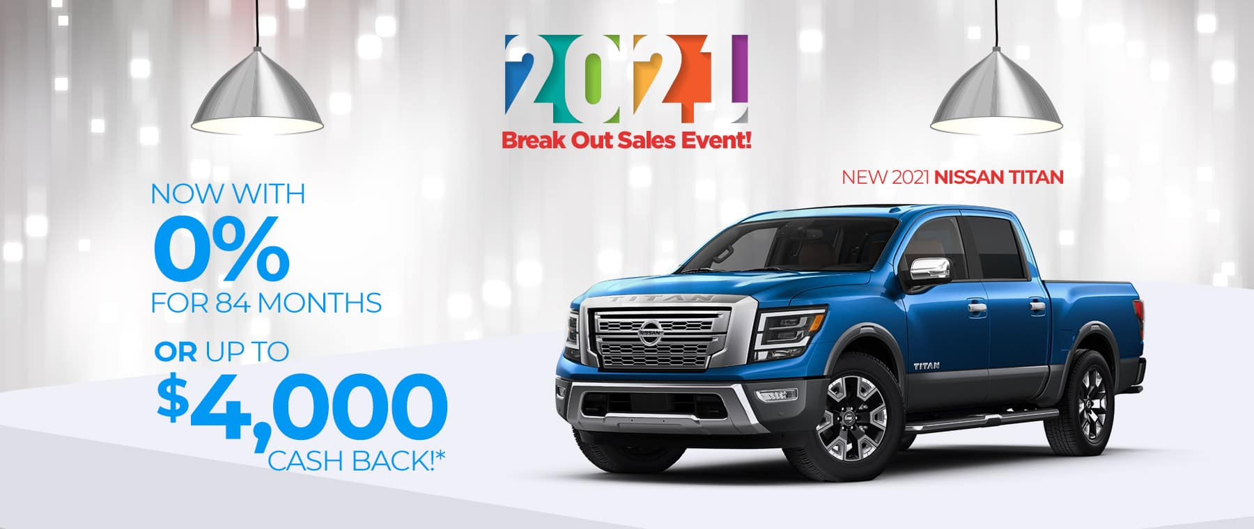 Special finance offer on a new 2021 Nissan Titan near New Albany, Indiana