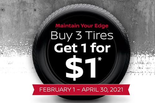 Maintain your edge, Buy 3 Tires get 1 for $1