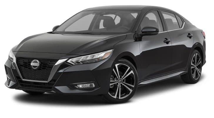A black 2021 Nissan Sentra SR is angled left.