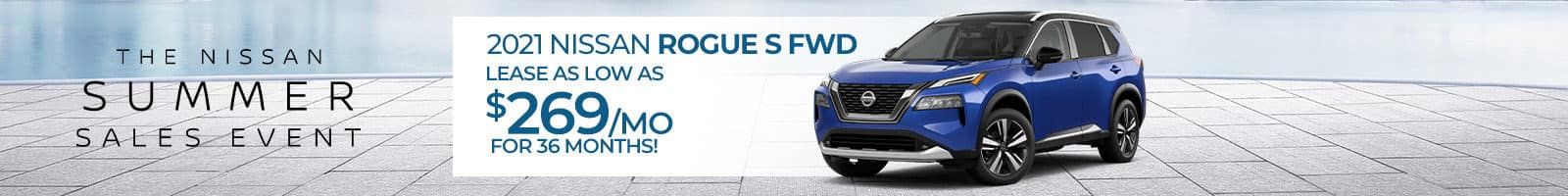 Special lease offer on a new 2021 Nissan Rogue near near near New Albany, Indiana