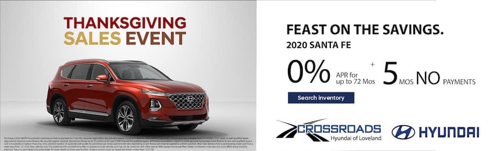 Thanksgiving Sale 2020 Santa Fe
