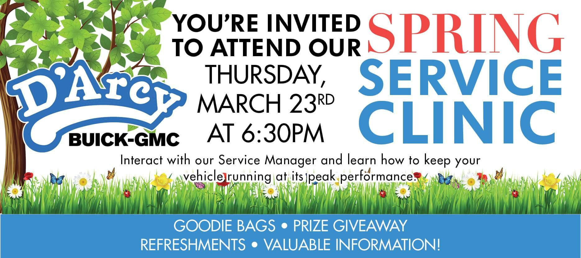 RSVP for our Spring Service Clinic on March 23rd at our dealership
