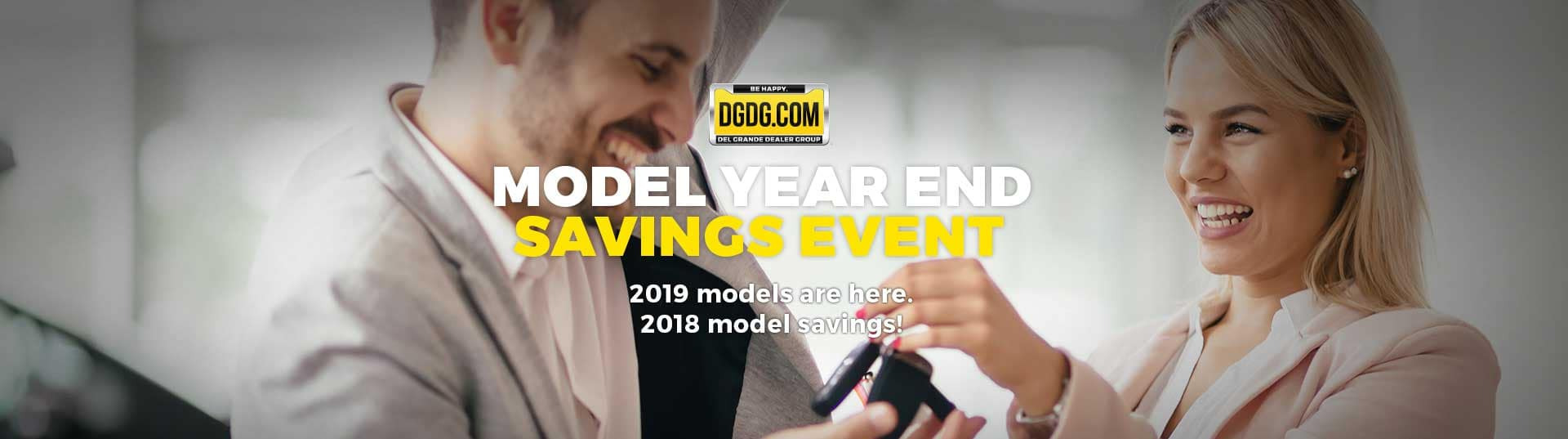 Model Year End Event Banner