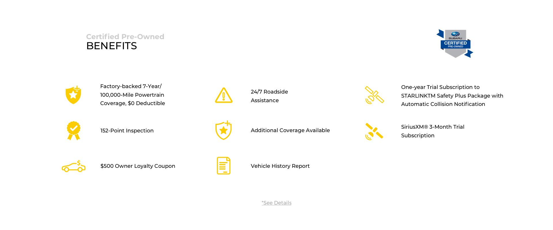 CPO Benefits Subaru Desktop
