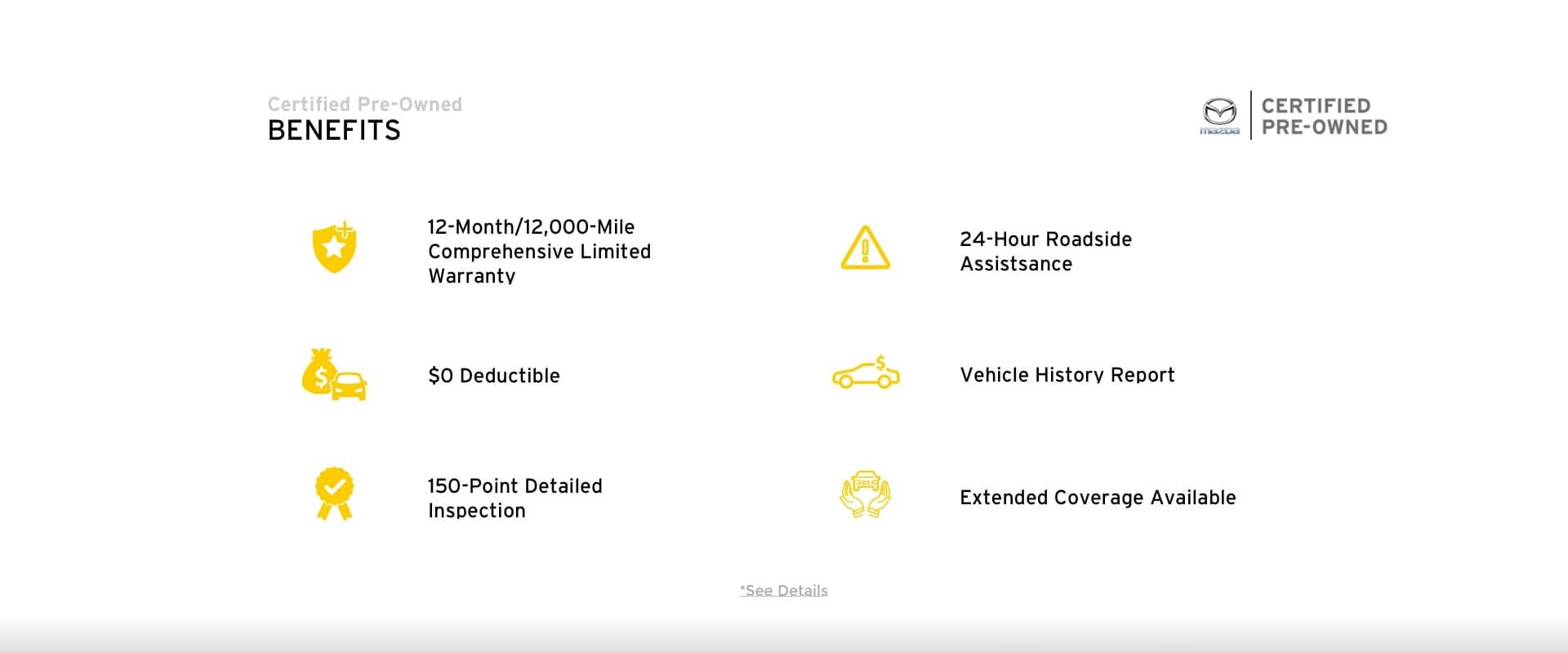 Mazda Certified Pre-Owned Benefits Slide