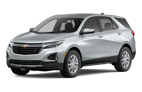 2022 Chevy Equinox LT in the color Silver Ice Metallic trim.