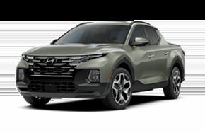 2022 Hyundai Santa Cruz Limited in the color Sage Grey.