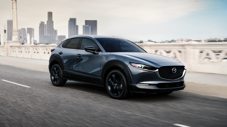 2021 Mazda CX-30 in the color Polymetal Gray Metallic.
