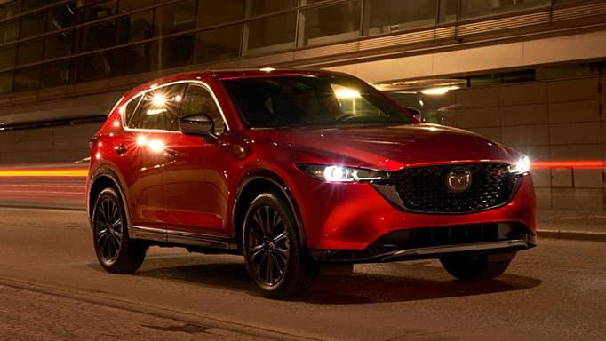 2022 Mazda CX-5 in red.