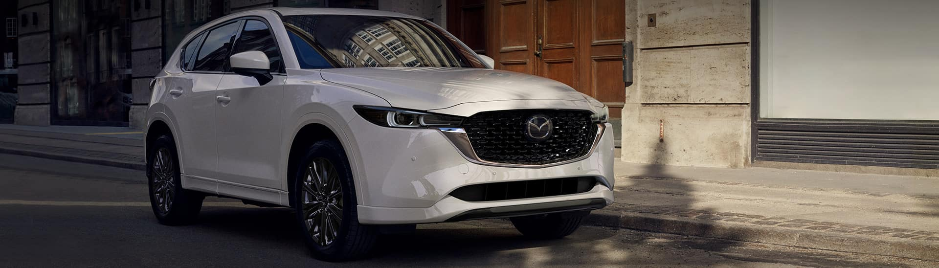2022 Mazda CX-5 in white on a street
