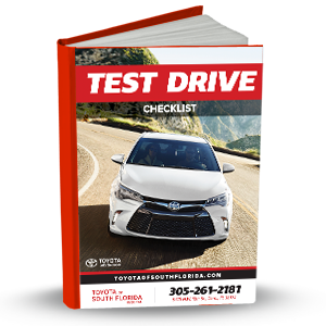 Toyota Test Drive Checklist eBook