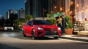 2018 Toyota Camry in Ruby Flare Pearl