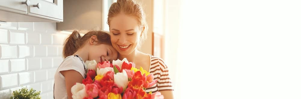 Mom and daughter flowers