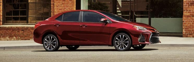 2019 red Toyota Corolla