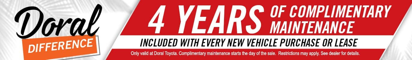 Doral_Difference_Banner_4_Years_Complimentary_Maintenance