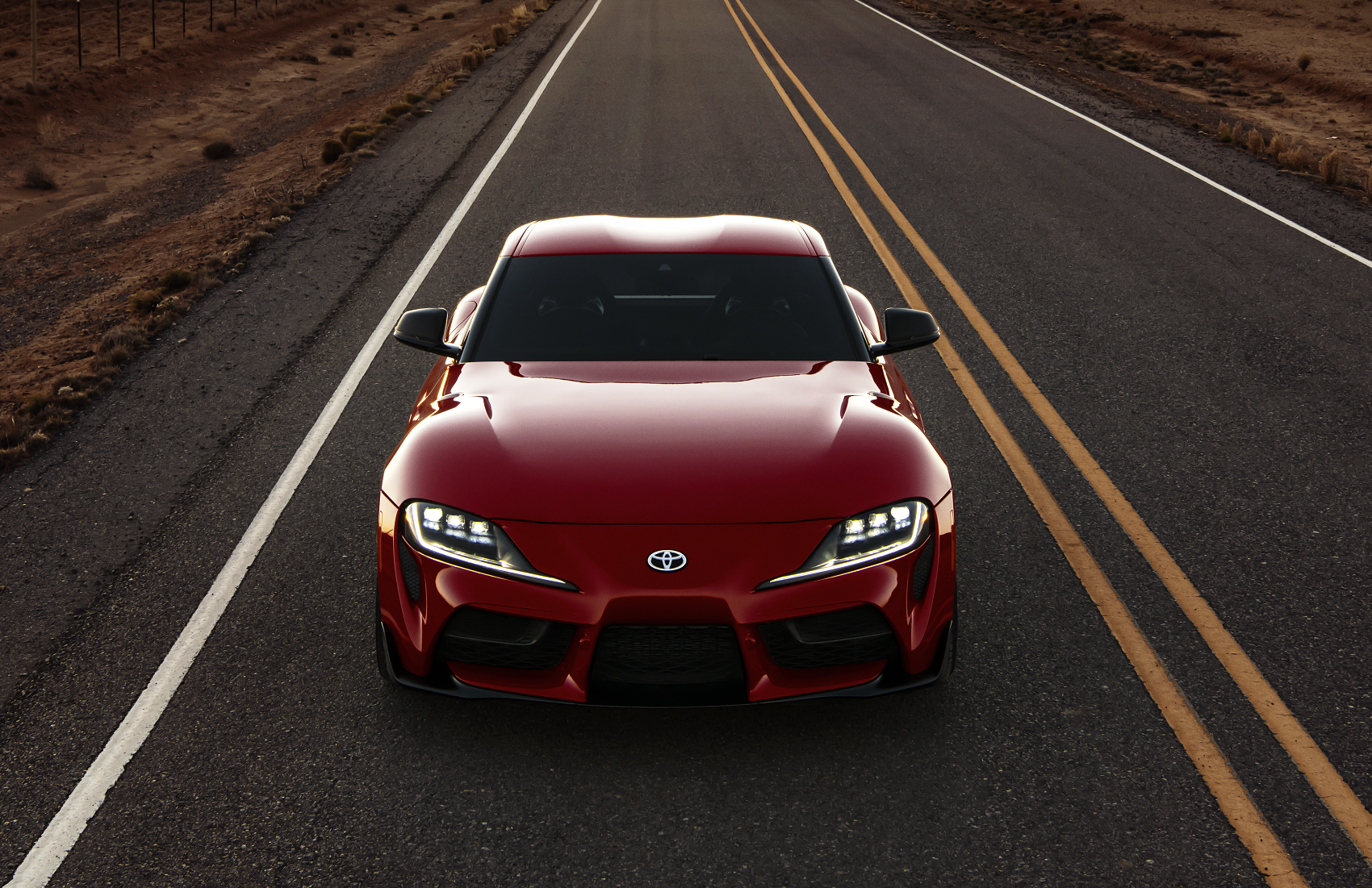 2020 Toyota Supra on Highway