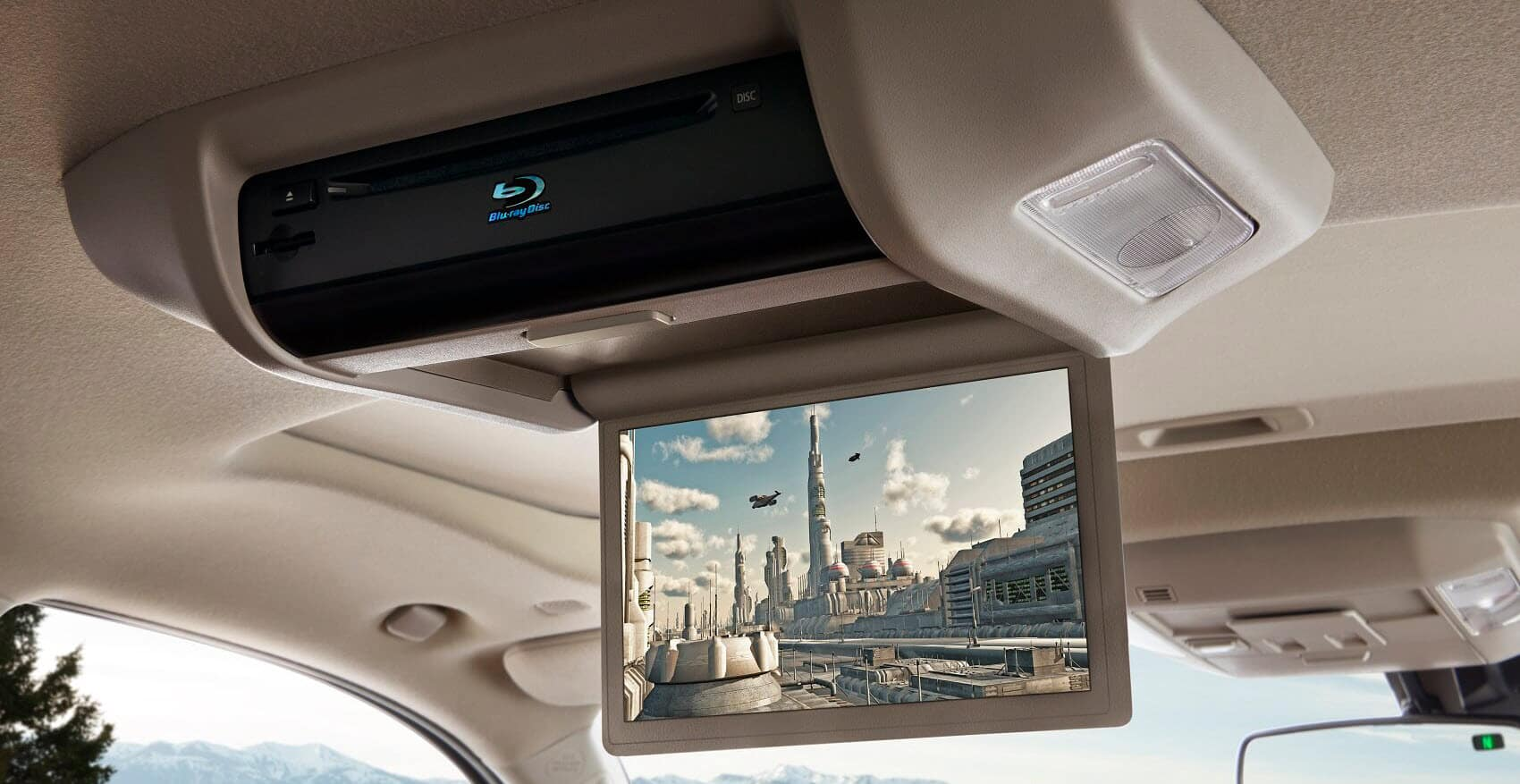 Toyota Sequoia 9-inch display comes with a Blu-ray Disc™ player