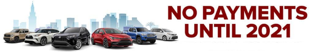 No Payments Until 2021 at Doral Toyota in Doral, FL