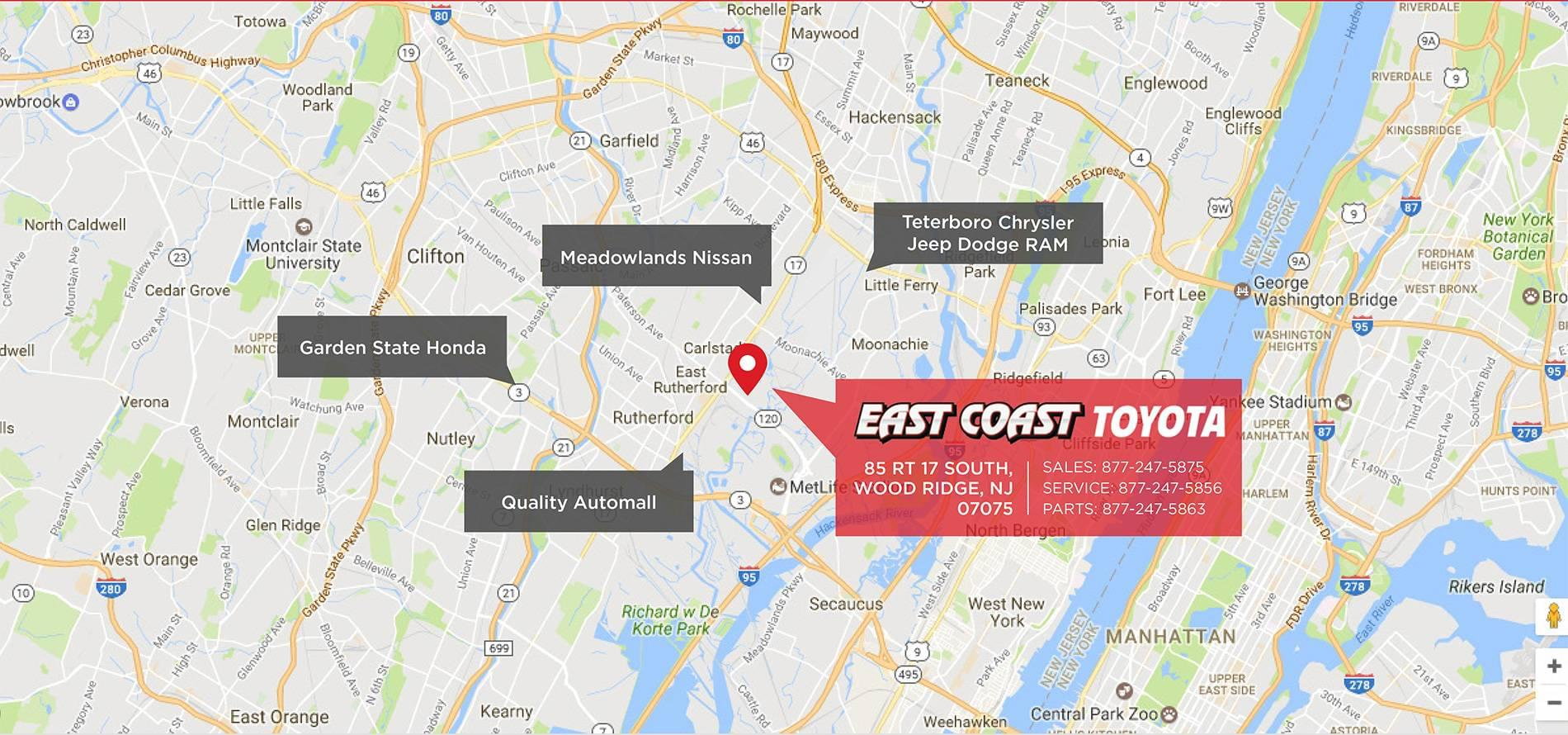 East Coast Toyota Conveniently Located Landing Page | East Coast ...